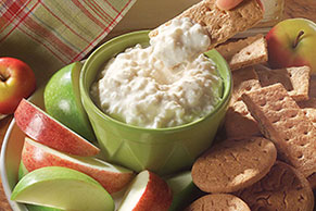 Cottage Cheese Apple Dippers