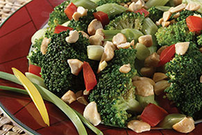 Asian Broccoli and Red Peppers with Peanuts