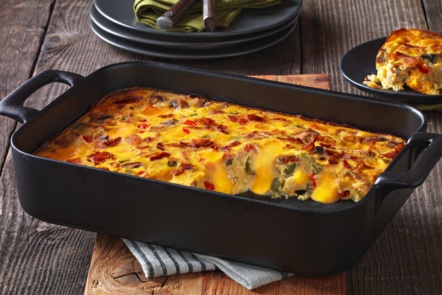 VELVEETA® Cheesy Bacon Brunch Casserole Image 1