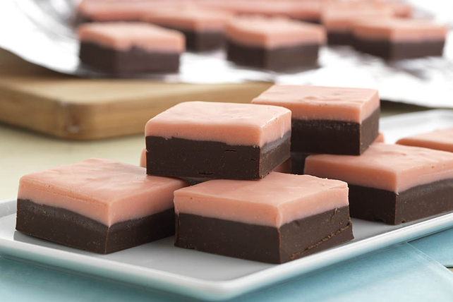 Layered Chocolate-Cherry Fudge Image 1