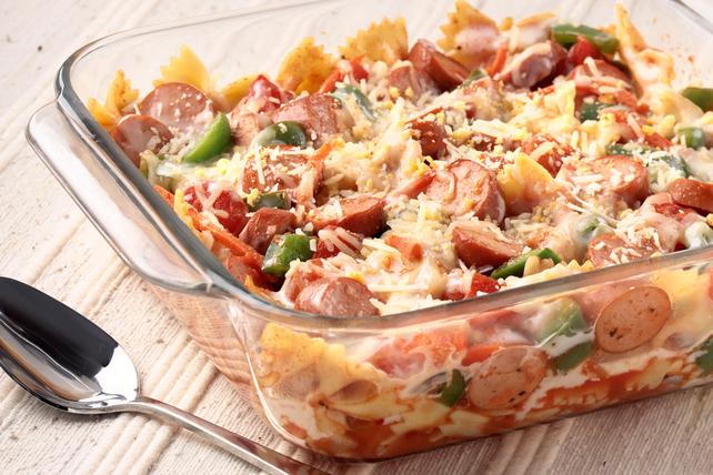 Hot Dog & Veggie Pasta Bake Image 1
