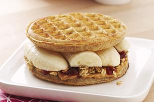Peanut Butter Banana Waffle-Wich
