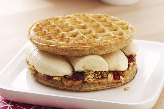 Peanut Butter Banana Waffle-Wich Image 1