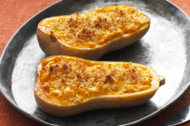 Cheesy Stuffed Butternut Squash
