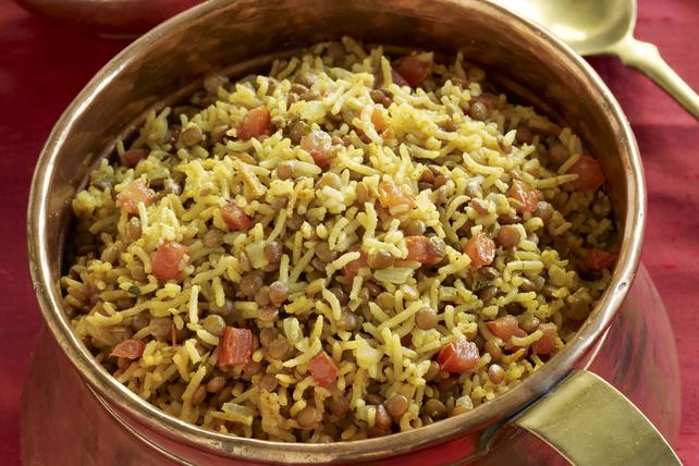 Indian Vegetarian Dal Biryani Image 1