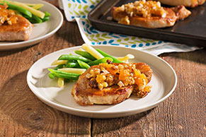 Apricot-Walnut Pork Chops