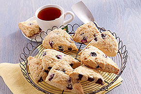 Blueberry-White Chocolate Chunk Scones