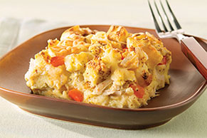 Swiss Chicken Strata
