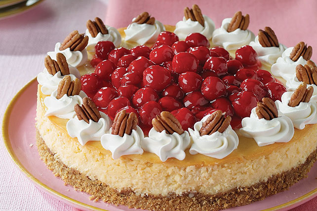 White Chocolate Cherry Pecan Cheesecake Image 1