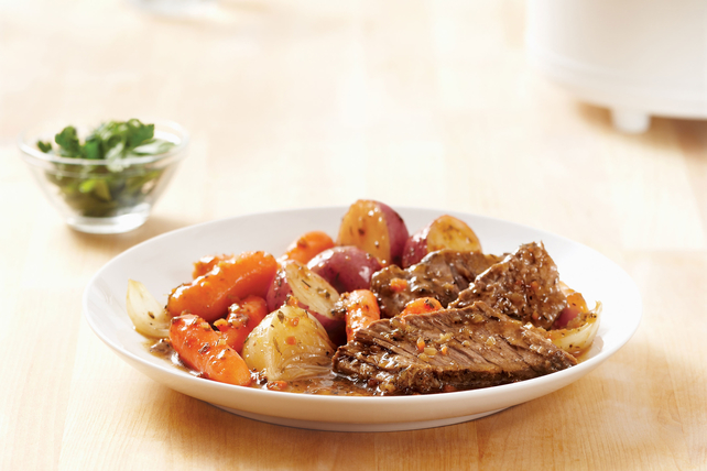 New England Beef Roast in Slow Cooker
