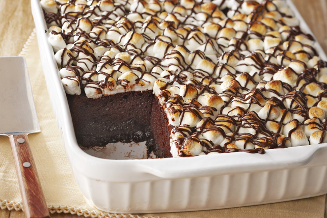 Warm Triple-Chocolate Pudding Cake Image 1