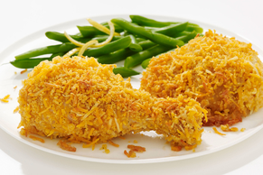 'Oven-Fried' Four Cheese Chicken