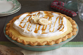 Bourbon Caramel-Banana Cream Pie