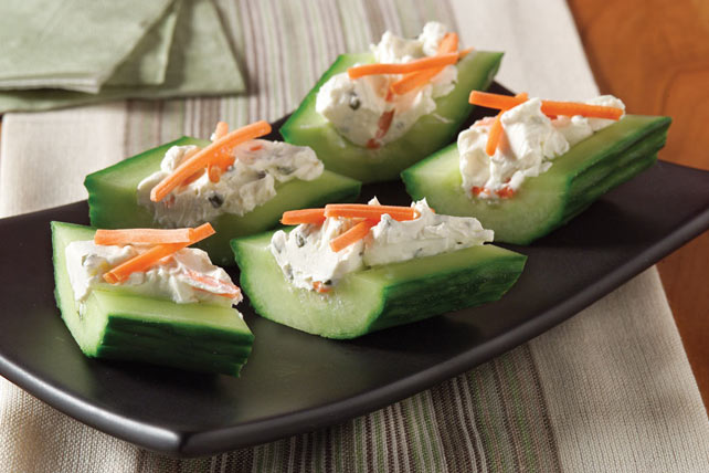 Cream Cheese 'n Herb Cucumber Bites Image 1