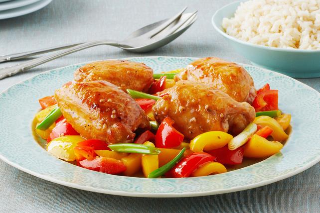Sauté de poulet à l'orange et au sésame Image 1