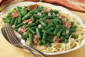 Green Beans & Bacon with Pasta