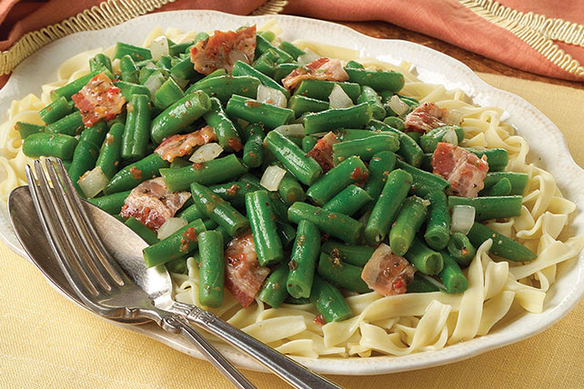 Green Beans & Bacon with Pasta Image 1
