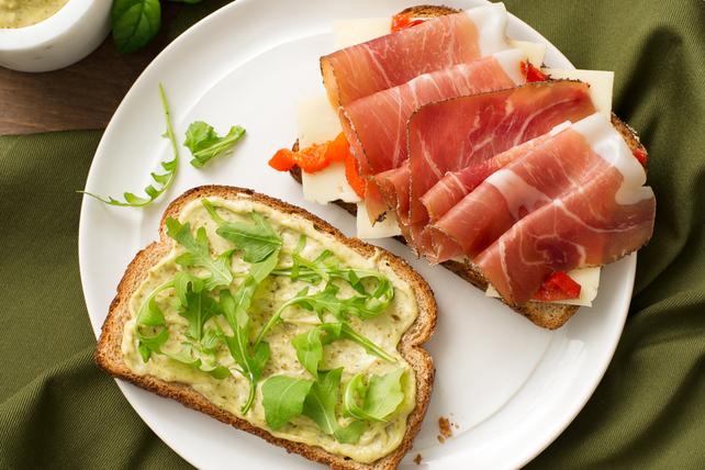 Prosciutto, Pesto & Havarti Sandwiches Image 1