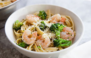 Quick Garlic-Shrimp & Pasta
