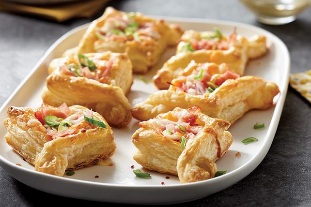 Mini-feuilletés au jambon et au fromage Image 1