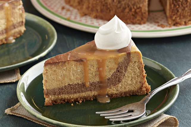 Spiced Chocolate-Swirled Pumpkin Cheesecake Image 1