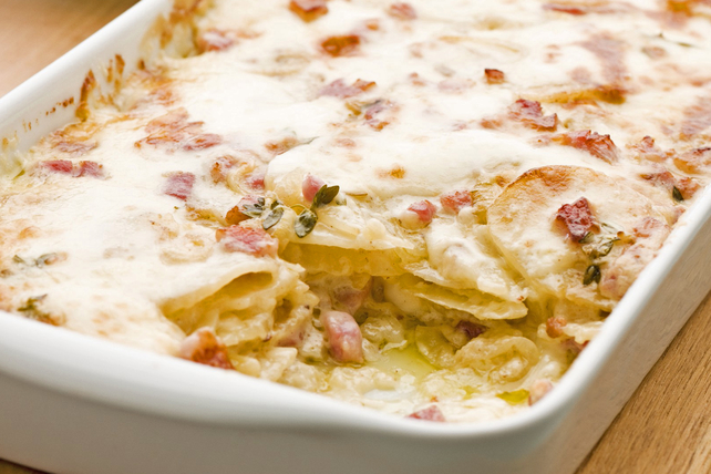 Cheesy Potato-Bacon Gratin Image 1