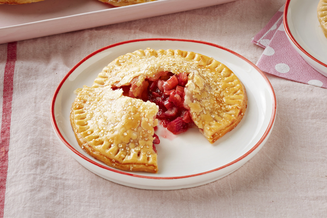 Mini Strawberry-Rhubarb Pies