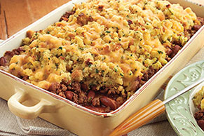 Chili-Beef Stuffing Bake