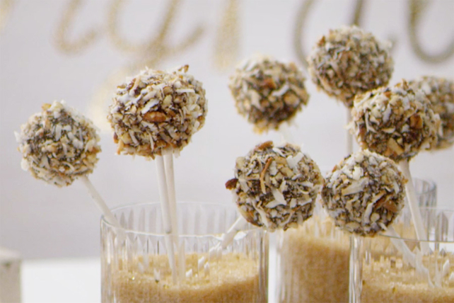 BAKER'S GERMAN'S Chocolate and Coconut Cake Pops