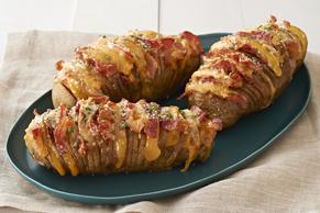 Cheesy Bacon Hasselback Potatoes