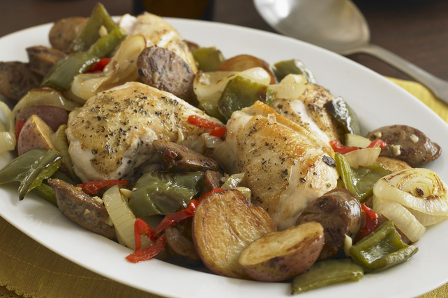 Casserole de poulet et de saucisses à la toscane Image 1