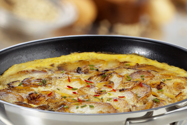 Spicy Potato Frittata with Chives Image 1