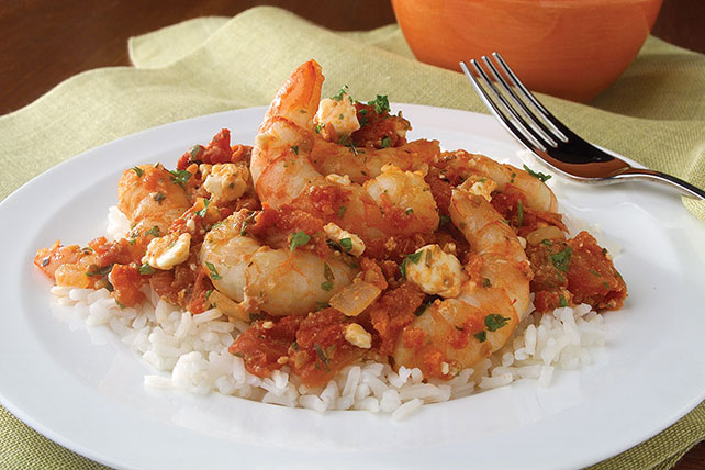 Shrimp with Tomato & Feta Image 1