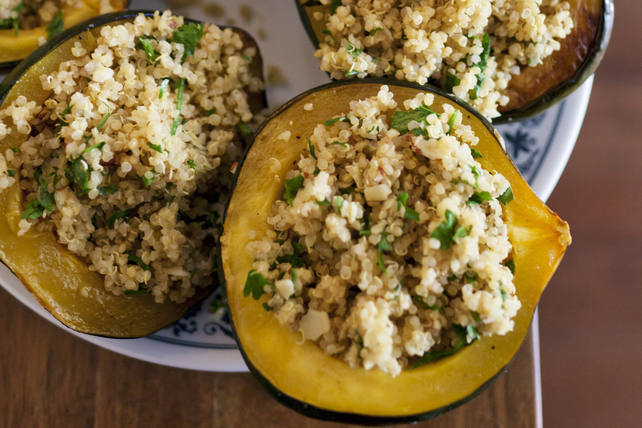 Quinoa-Stuffed Squash with Parsley and Feta Image 1