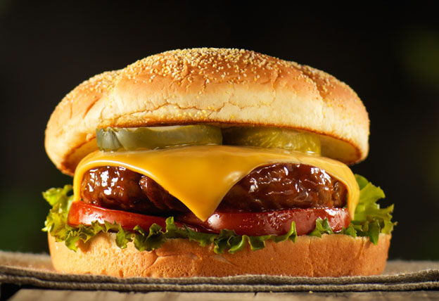 The Super BBQ Cheeseburger Image 1