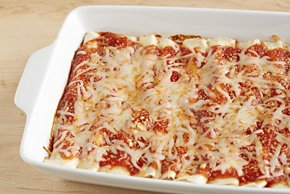 Traditional Cheese Manicotti