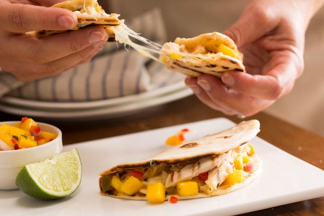 Grilled Chicken-Mango Quesadillas Image 1