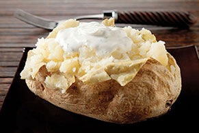 Baked Potatoes with Spiced Sour Cream