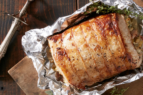 Fennel, Apple and Blue Cheese Stuffed Pork Loin