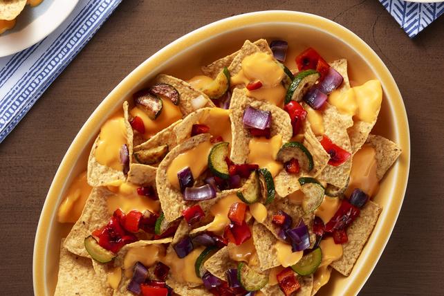 VELVEETA® Grilled Vegetable Nachos Image 1