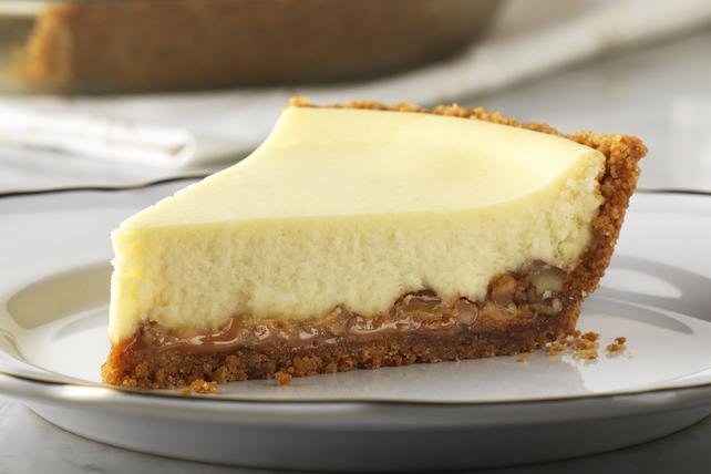 Gâteau éclair au fromage, au caramel et aux pacanes Image 1