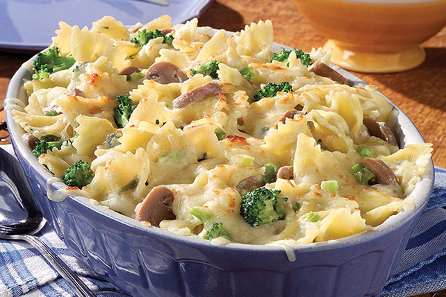 Four Cheese Pasta with Broccoli Bake