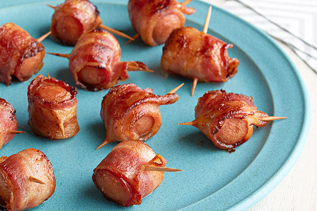 Smoky Bacon-Wrapped Hot Dog Appetizer Bites