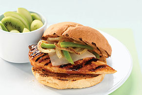 Grilled Mozza-Chicken Sandwiches