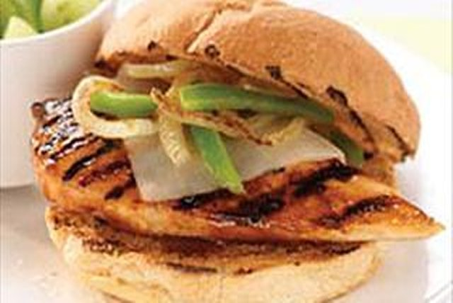 Grilled Mozza-Chicken Sandwiches Image 1