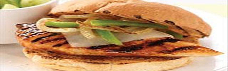 Grilled Mozza-Chicken Sandwiches Image 1