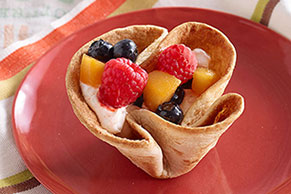 Tortilla-Fruit Cups