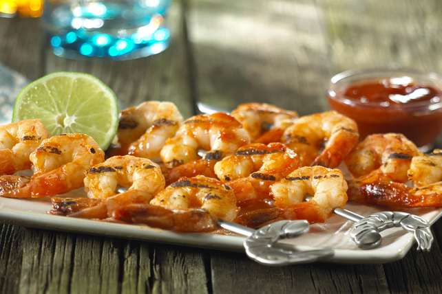 Garlic-Lemon Shrimp Kabobs