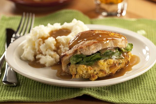 Cornbread-Stuffed Pork Chops Image 1