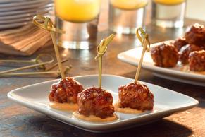 Barbecued Mini Meatballs